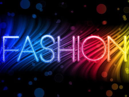 Fashion rainbow sign